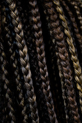 Close-up of braided hair