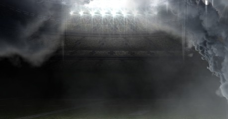 american football stadium with clouds