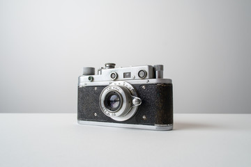 Analog camera on the white background