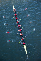 Crew Team in Competition