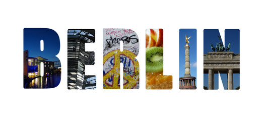 Berlin collage on white