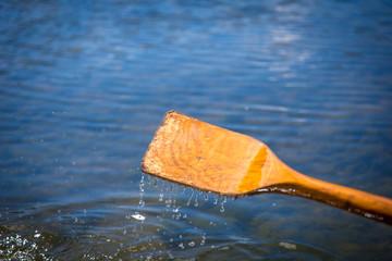 Rowing Boat Oar in water