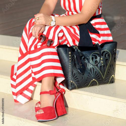 Beautiful Fashionable Shoes On Womens Leg Stylish Ladies