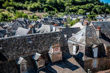 Le village d'Estaing vu du château