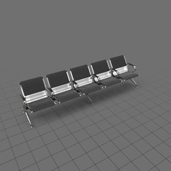 Row of airport chairs 1