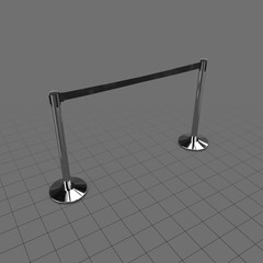 Long airport stanchion