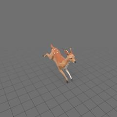 Stylized fawn running