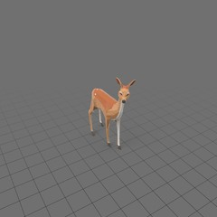 Stylized fawn standing