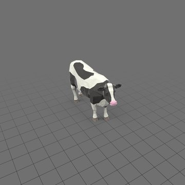 Stylized cow standing