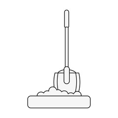 shovel tool icon image vector illustration design