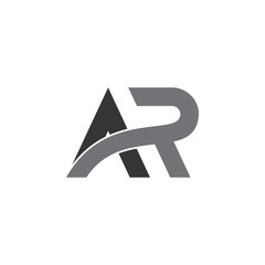 a and r letter logo