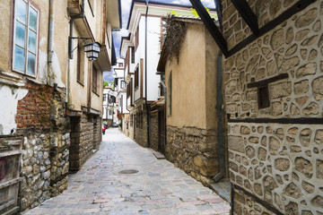 Street in the old city of Ohrid, Macedonia