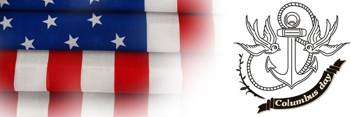 Composite image of logo for american event colombus day