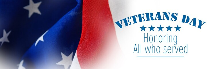 Composite image of logo for veterans day in america