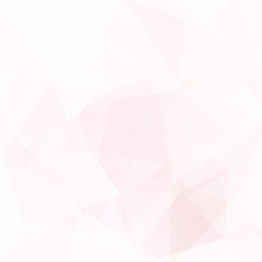 Background made of pink, white triangles. Square composition with geometric