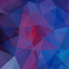Abstract geometric style background. Blue, red, purple colors. Vector illustration