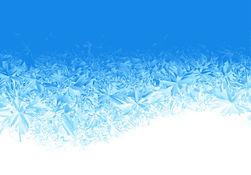 Winter blue ice frost background