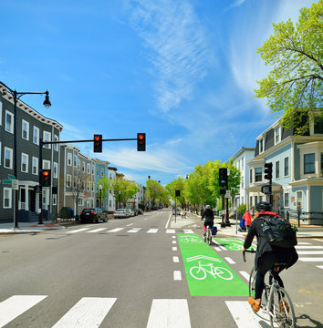 Biking On Protected Bike Lanes
