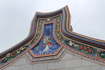 Temple of the Five Sisters Architecture in Rural Guangdong Province China Asia