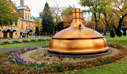 Old distillation kettle in sapporo