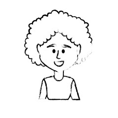 figure avatar woman with hairstyle and blouse design