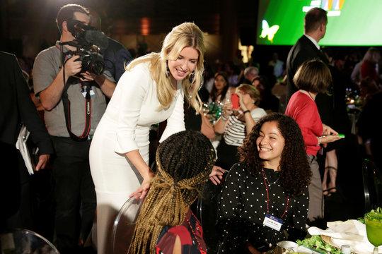 "Senior White House Advisor Ivanka Trump greets high school students at the 2017 Fortune magazine's ""Most Powerful Women"" summit in Washington"