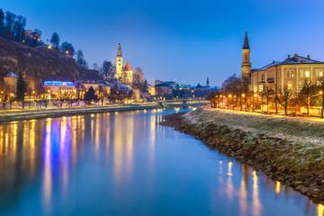 Beautiful scenic landscape in winter, Salzburg, Austria, Europe, travel