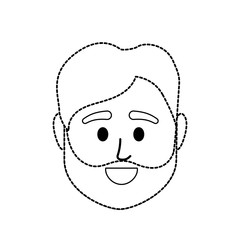 dotted shape avatar man head to social user