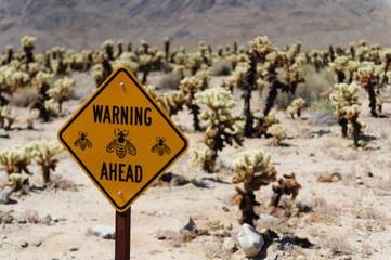 Bee Warning Sign