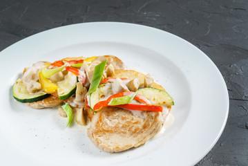 chicken with vegetebles