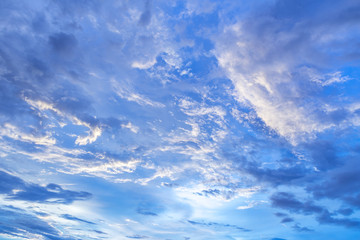 beautiful brilliant and dynamic sky, long exposure photography for cloud movement