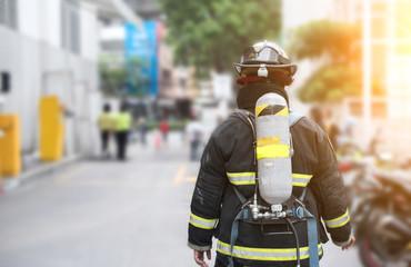 firefighter portrait on duty