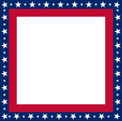 USA flag frame with copyspace vector
