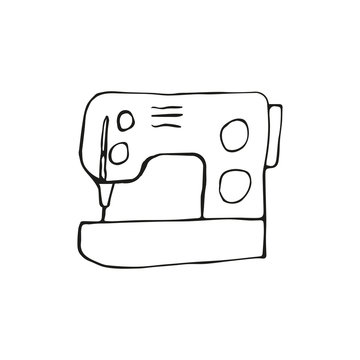 Sewing machine for hand made in doodle style
