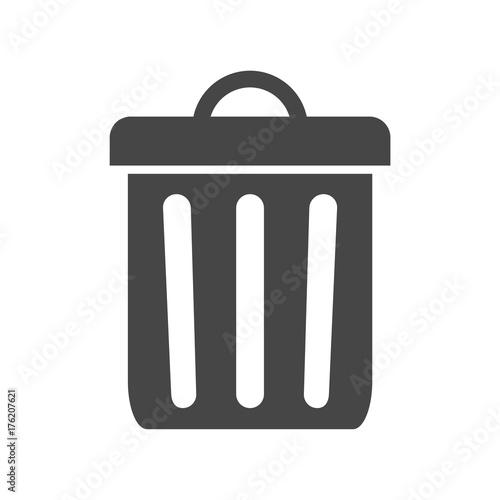 trash bin or trash can symbol icon fotolia com の ストック画像と