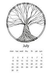 Calendar 2018 - vector illustration