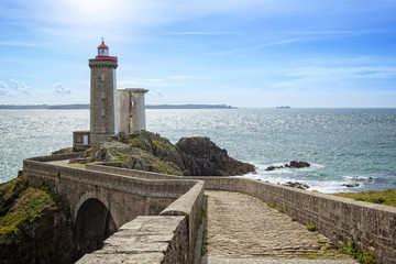 Lighthouse Phare du Petit Minou in Brittany