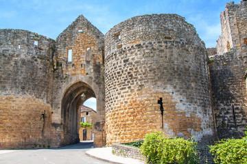 Domme. La porte des tours. Dordogne. Nouvelle Aquitaine