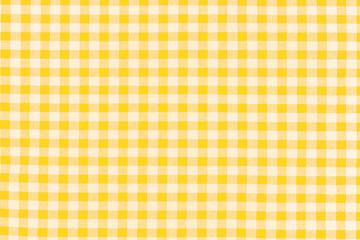tissu à petits carreaux vichy jaune
