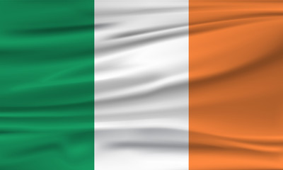 Vector flag of Ireland. Vector illustration