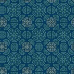 Citrus Inspired Geometric Pattern