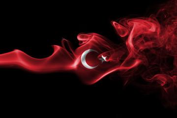 Turkey national smoke flag