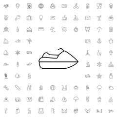 Jet ski icon. set of outline tourism icons.