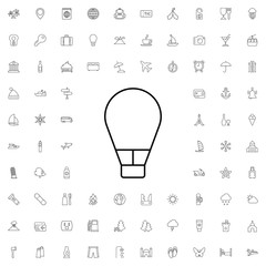 Air balloon icon. set of outline tourism icons.