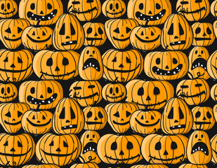 Halloween pumpkins, seamless pattern for your design