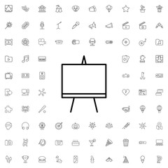 Easel icon. set of outline entertainment icons.