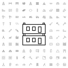 Modular house icon. set of outline construction icons.