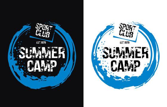 Summer Camp concept. Vector illustration for t-shirt