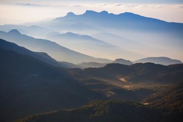 Mountains in a morning fog, Sri Lanka