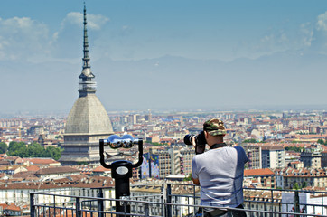 Turin viewpoint the Mola Antonelliana